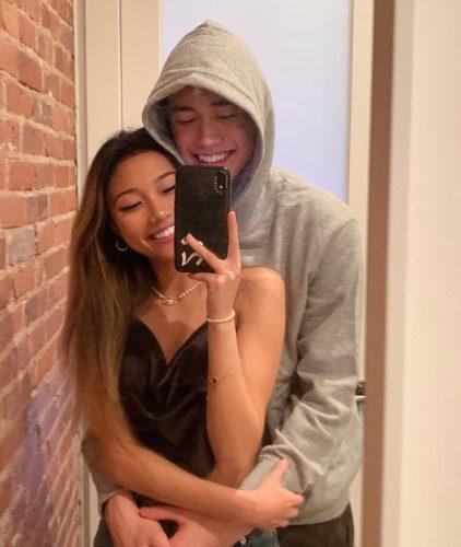 Rachie with her boyfriend
