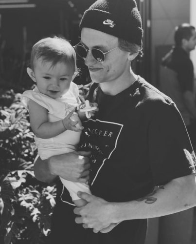 7eth with his daughter