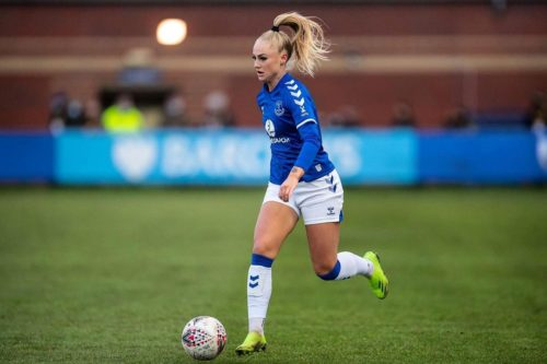 Alisha Lehmann playing soccer