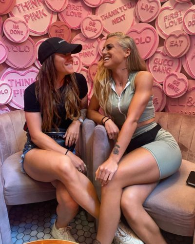 Alisha Lehmann with her girlfriend