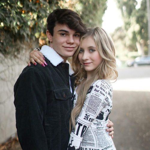 Elliana Walmsley with her boyfriend
