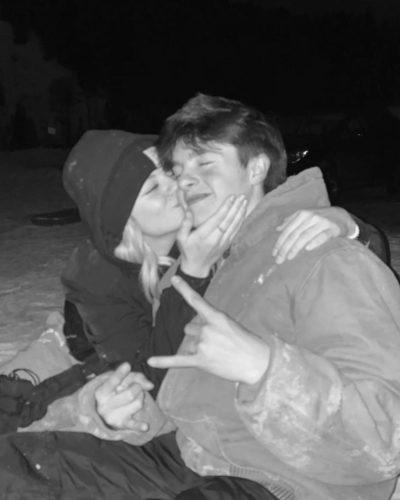 Kesley LeRoy with her boyfriend