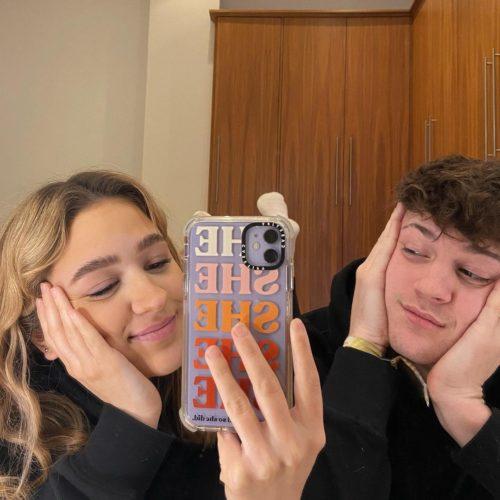 Poppy Mead with her boyfriend