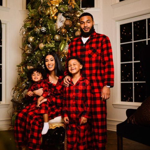 Queen Naija with her family