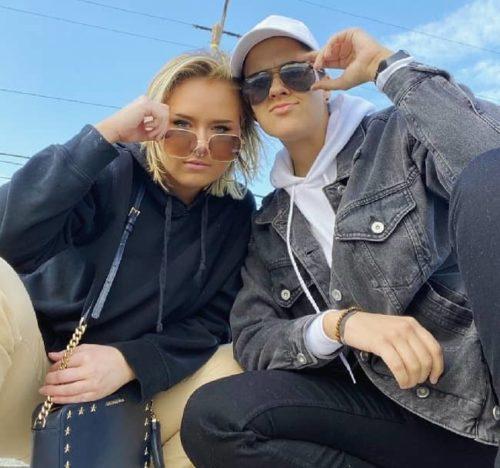 Sarah Schauer with her girlfriend