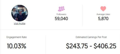 HBomb94 estimated Instagram earning
