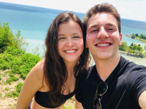 Sara Waisglass with her boyfriend