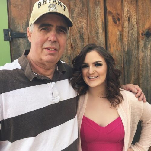 Mikayla Nogueira with her father