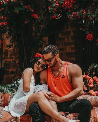 Amanda with her boyfriend