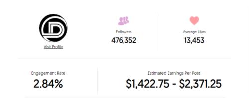 DevanOnDeck Instagram earning