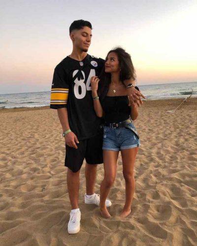 Dina Denoire with her boyfriend