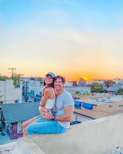 Gina with her boyfriend