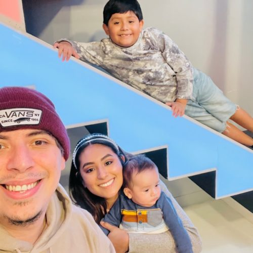 Haydee with her family