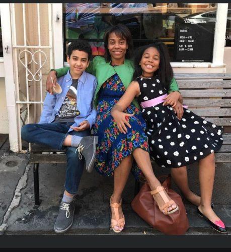Karen with her children