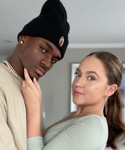 Keyondre Lowery with his girlfriend