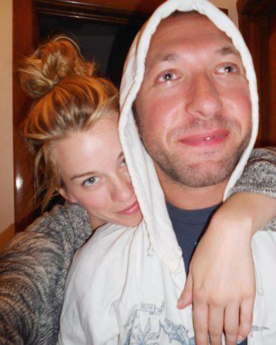 Kim with her boyfriend