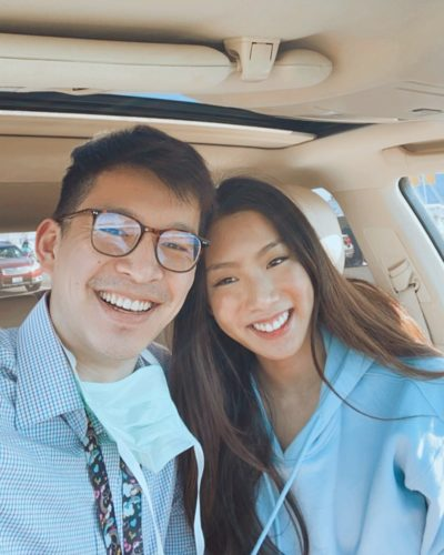 Miki Rai with her boyfriend