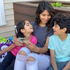 Sheena Melwani with her kids