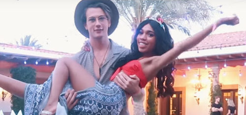 Teala Dunn with her boyfriend