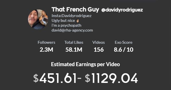 davidyrodriguez TikTok earning