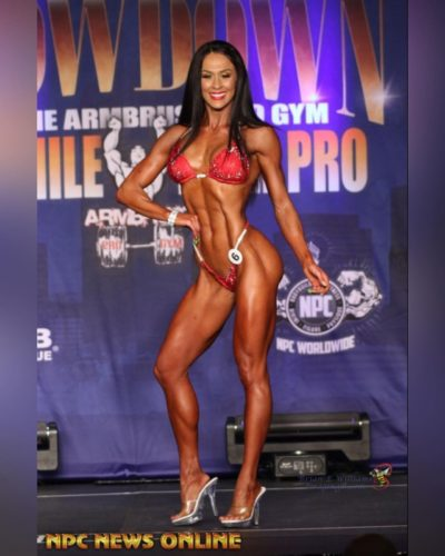 Ashley Kaltwasser flaunting in a competition