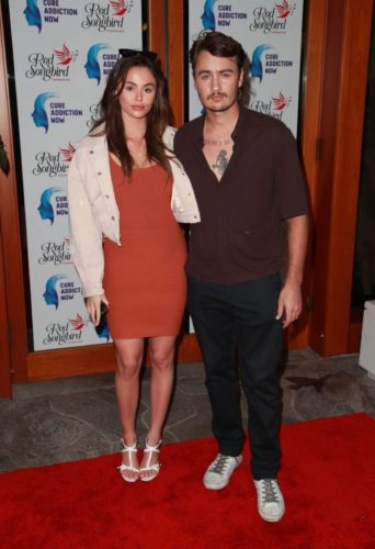 Brandon Thomas Lee with his ex girlfriend Daniella Beckerman