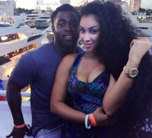 Darnell Nicole with her ex fiance