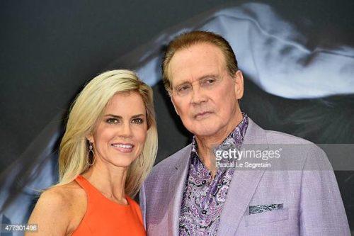 Faith Majors with her husband