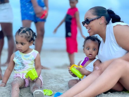 Jaliyah Monet with her kids