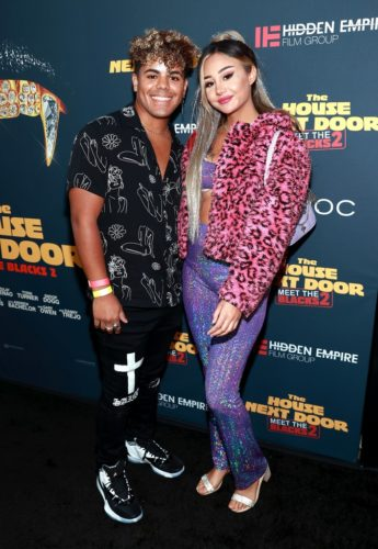 Joshua Suarez with his girlfriend