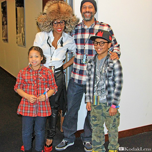 June Ambrose with her family