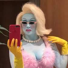 Juno Birch as a drag queen
