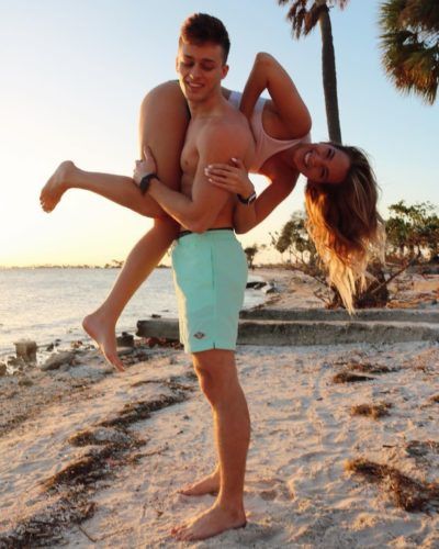 KennaDee Nelson with her fiance