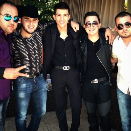 Kevin Ortiz with his brothers