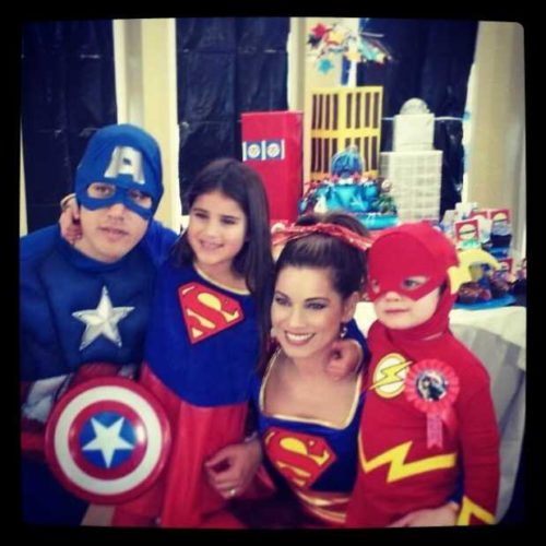 Lisa Gonzales with her family