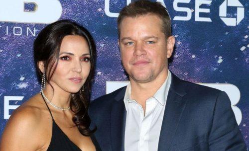 Luciana with her husband Matt Damon