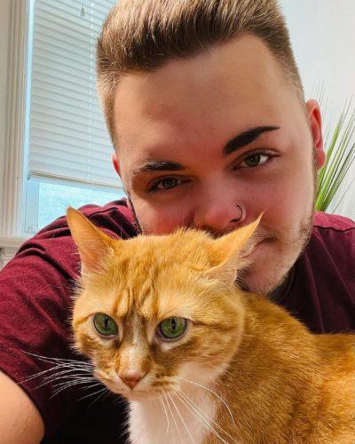 Mason and his cat