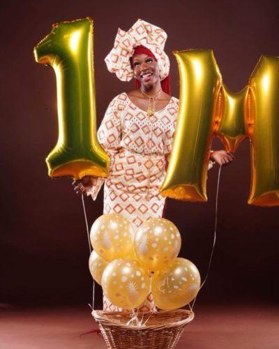 Maya Celebrating her 1 million follower on TikTok