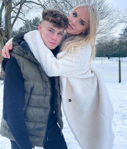 Megz with her boyfriend