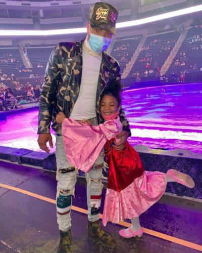 Messiah Da Rapper with his daughter