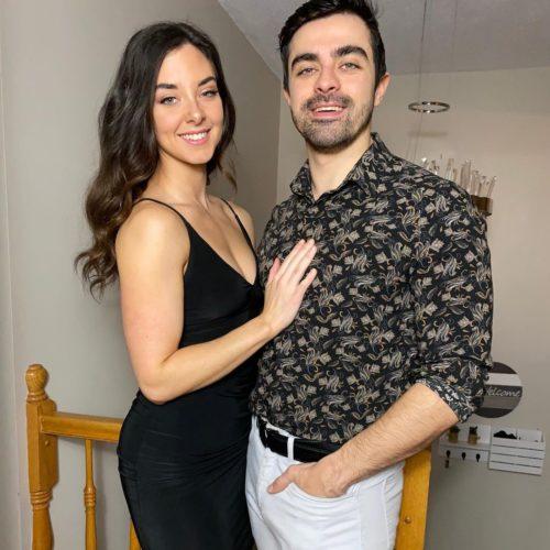 Morgan with her boyfriend