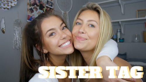 Mya Benway with her sister