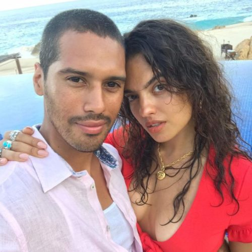 Nina Marie Daniele with her boyfriend
