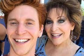 Peet Montzingo with his mother