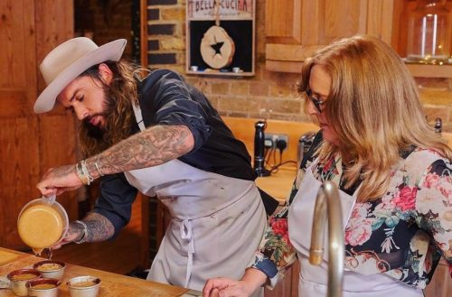 Pete Wicks with his mom