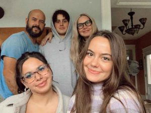Spencer Barbosa with her family