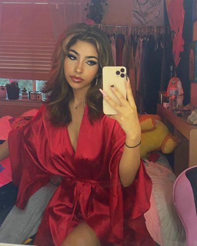 Vereena Sayed looking stuuning in red