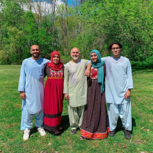 Zahra with her family