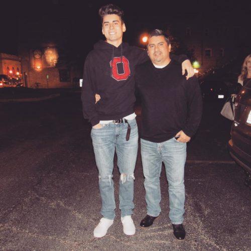 jake maldonado with his father