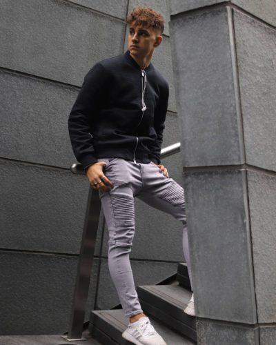 Adrian in his stylish looks